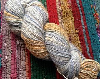 Rusty Blues DK-ish yarn - 100% organic polwarth - handspun