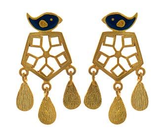 Handmade Silver Bird Earring