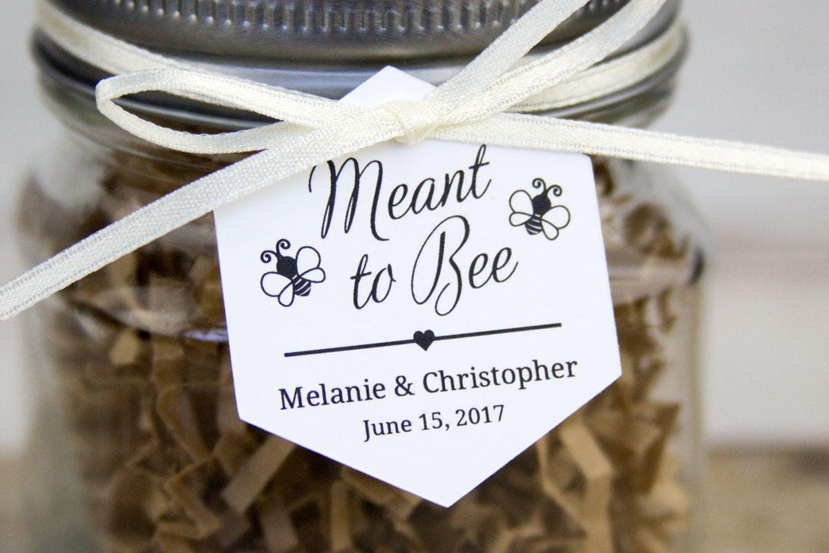 Meant to Bee Tag Hexagon Tag Honey Wedding Favor Tags