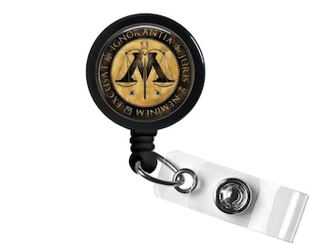 Fantastic Beasts Photo Glass/Bottle Cap Retractable ID Badge Reel
