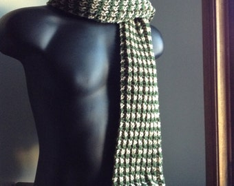 SALE! Houndstooth Scarf (Green)