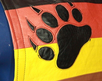 Hand Made Leather Bear Pride Vest