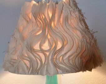Burlap Ruffle Lamp Shade. Anthropologie Inspired. Beautiful & Beachy