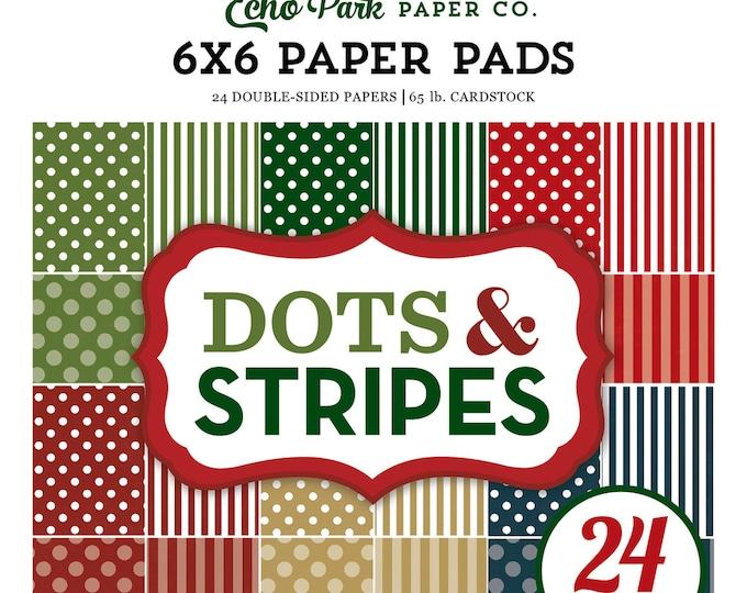 Echo Park Paper DOTS & STRIPES Christmas 6x6 Scrapbook Paper Pad (DS170142)