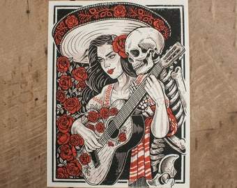 Death's Embrace -  Limited Edition Screen Print