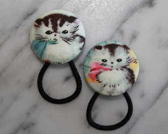 Kitten Pony tail holders make adorable party favors, gifts, everyday hair accessories