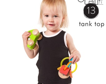 Kids tank top pattern // pdf download // 0M-6T // Photo tutorial // #13