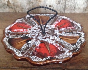 Retro brown serving plate
