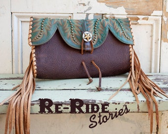 Cowboy Boot Clutch- Green