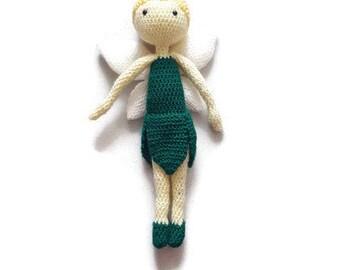 Handmade crochet amigurumi doll toy