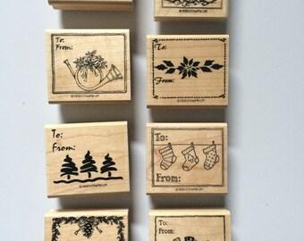 Stampin Up Christmas gift tags