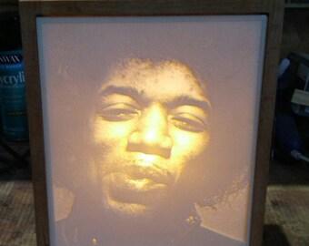 Jimi Hendrix Lithophane