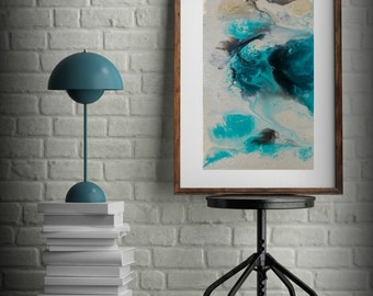 Captivating Zen Painting Watercolor Painting Office Art Print Abstract Painting  Contemporary Art Abstract Painting Large Wall Art