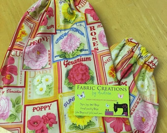 The *Happy Andi* Hanging Grocery Bag Holder   Flowers, Seeds, Geraniums, Roses, Daisy, Peony, Chrysanthemums