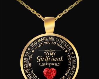 Valentines day gift for girlfriend, Valentines Gift, Girlfriend Necklace, Pendant, Girlfriend Gift, Girlfriend Jewelry, Girlfriend Birthday