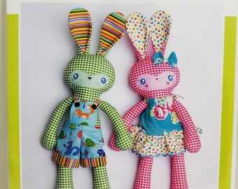 Melly and Me BENNY and BOO Bunny new craft pattern #MM142