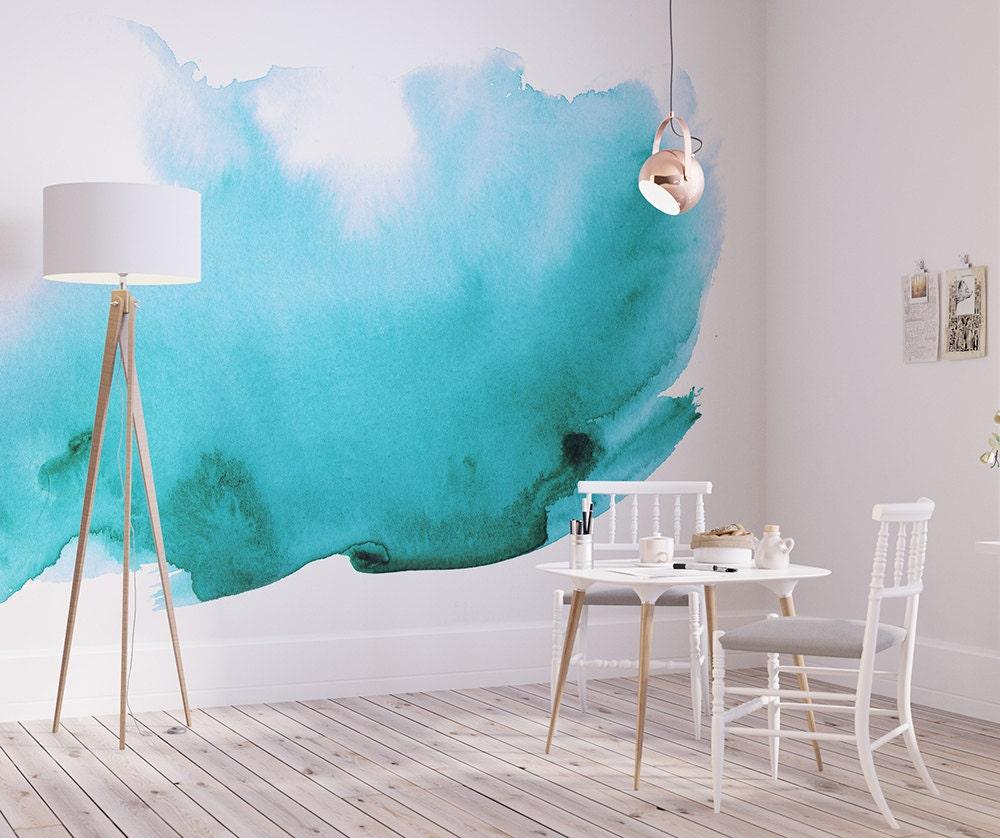 Watercolor Wall Mural Watercolor Wallpaper Adhesive