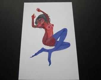 Lizard Pin-up print by Matt Furie