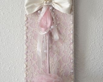 Shabby chic candle and its led candle
