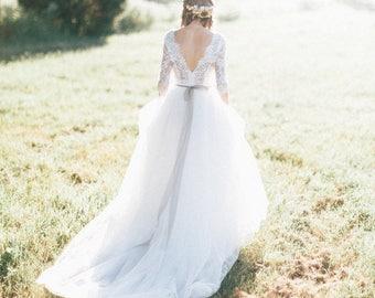 Lace wedding dress etsy lace wedding dress tulle wedding dress white lace wedding dress lace wedding dress junglespirit Images