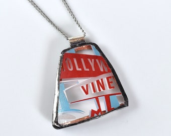 Broken China Jewelry Pendant - Disney - Hollywood and Vine