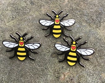 Manchester Bee Love Enamel Pin Badge