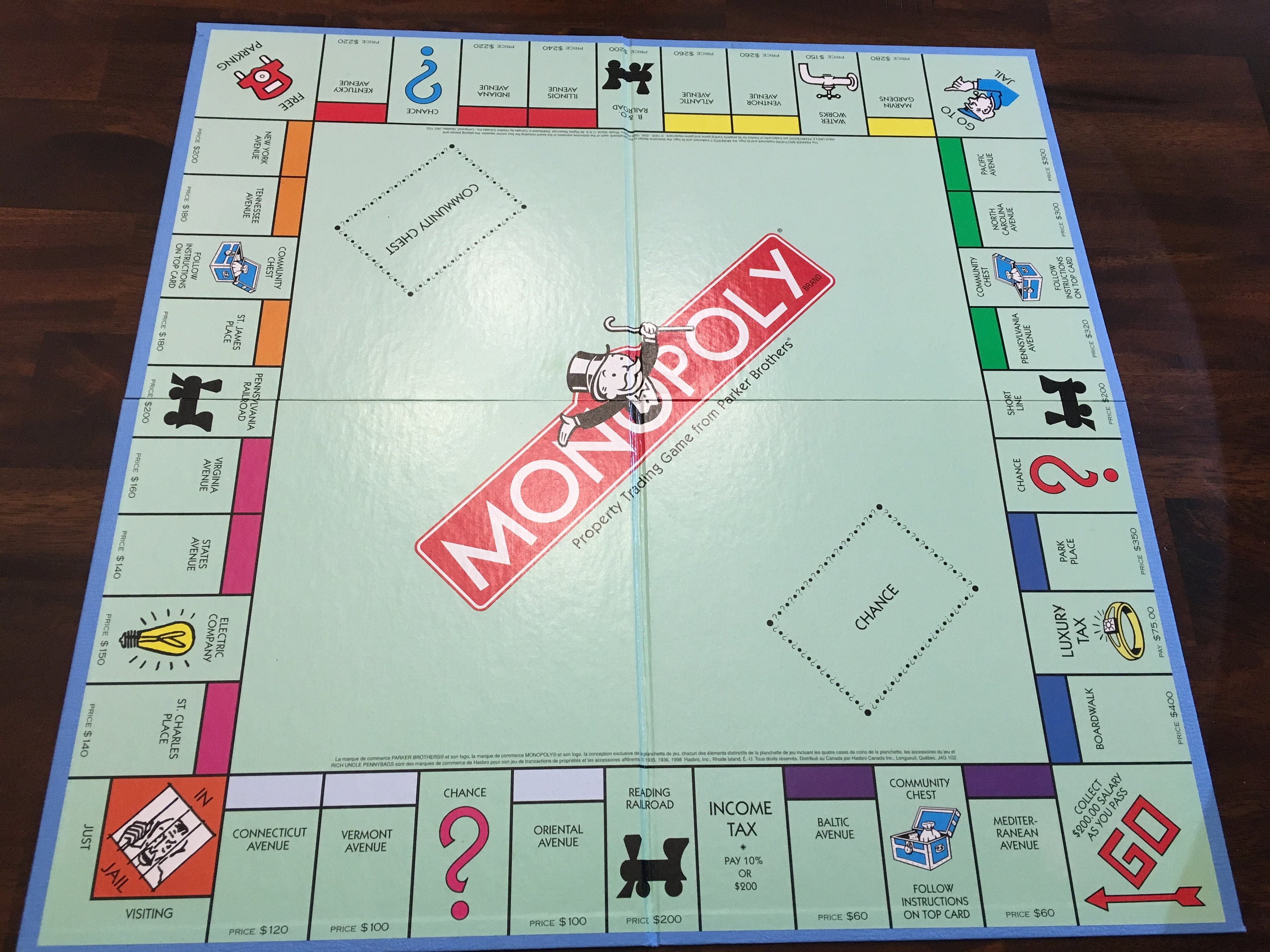Vintage Monopoly Playing Board Like New Condition