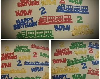 Train Birthday Party Confetti - Cars Birthday Party Confetti - Airplane Birthday Party Confetti - Birthday Party Confetti - 50 pieces