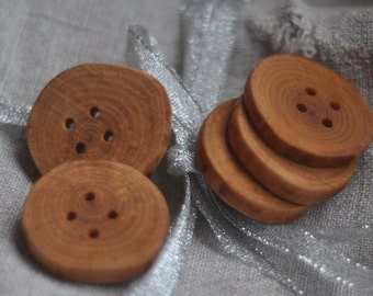 tree branch buttons  • 5  birch wooden buttons •   handcrafted  wood buttons