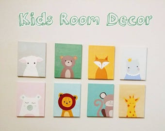 Lovely  Baby Kids Room Canvas Original Acrylic Painting 11×14