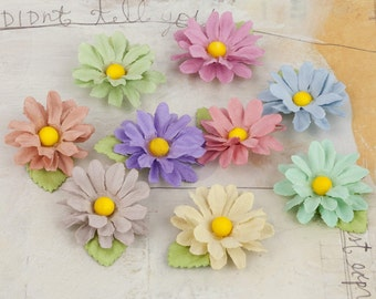 Prima Flowers Lil Missy Flower Multi Colored Pack 571634 paper flowers mulberry paper flowers craft scrapbooking