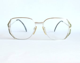 Silhouette M 6063 Silver Squared Glasses. Bargain! Pre-Owned. In excellent condition.