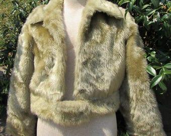 Vintage Salvini Faux Fur Coat Size 10