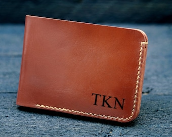 Personalized mens wallet / Mens Wallet / Engraved Wallet / Mens Leather Wallet /  Anniversary Gift/ Gift for men - MW02#36