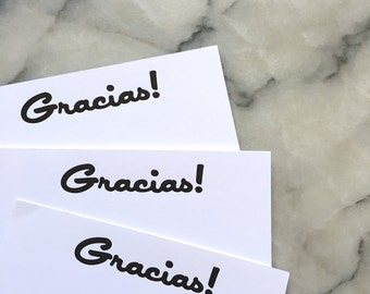 Gracias! Note Cards, Set of 8 Flat Cards with Envelopes