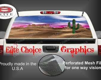 Desert Landscape Rear Window Graphic Tint Decal Sticker Truck SUV Van Car