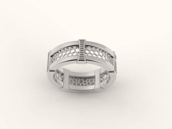 geek wedding ring sci fi wedding ring nerd wedding band