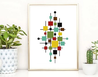 Geometric modern cross stitch pattern, Scandinavian abstract cross stitch, minimalistic cross stitch, easy, pdf , counted cross stitch
