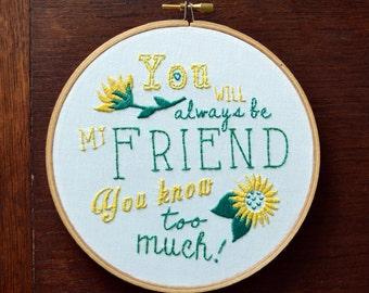 Embroidery Kit Best Friend