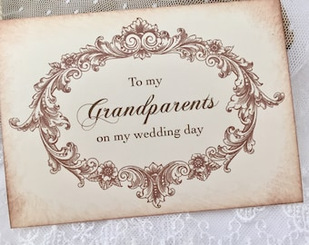 To my Grandparents Card, Card for Grandparents on Wedding Day Card