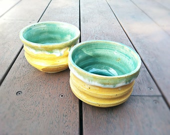 Twin Cereal Bowls - Sunshine Yellow