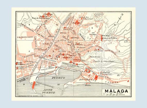 Old Malaga Map Large Size Map Malaga City Plan Malaga Map