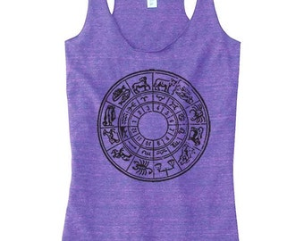 Astrological Chart Yoga Top For Women, Yoga Clothing, Yoga Top, Astrology Chart Clothing