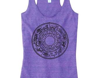 Top de Yoga de thème astrologique pour femmes, vêtements de Yoga, Yoga Top, astrologie graphique vêtements