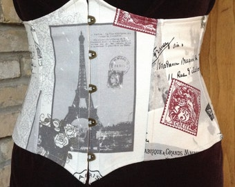 Postcards from Paris Under Bust Corset