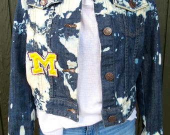 College Jean Jacket (University of Michigan)