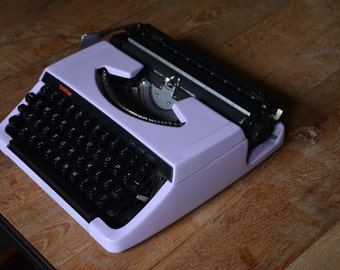 PICK A COLOR - Custom made - Lillac brother 220 deluxe - Working Vintage Typewriter