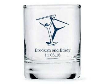 Set of 36 Martini Glasses Shot Glasses - Personalized Shot Glasses - Personalized Party Glasses - Wedding Glasses