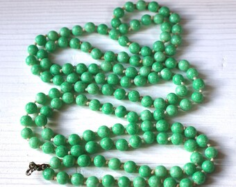 Vintage peking glass flapper necklace, SALE