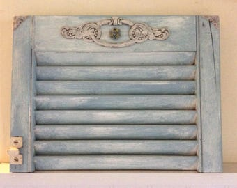 Vintage Salvaged Wood Shutter Top Wall Hanging, Country, Shabby Chic, Cottage